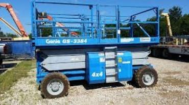 Genie GS 3384 RT Rough Terrain Scissor Lift